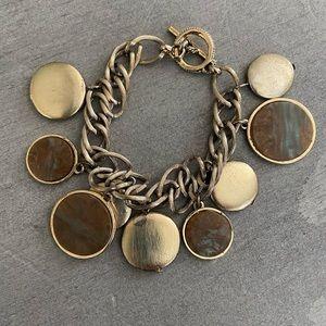 Vintage Monet Charm Dangle Toggle Bracelet